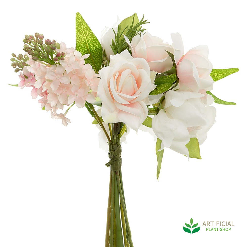 artificial flower bouquet - peony & hydrangea