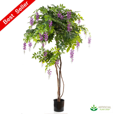 Artificial Wisteria Tree with Lilac Flowers