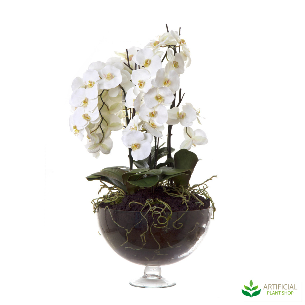 Fake Flowers - white Orchid