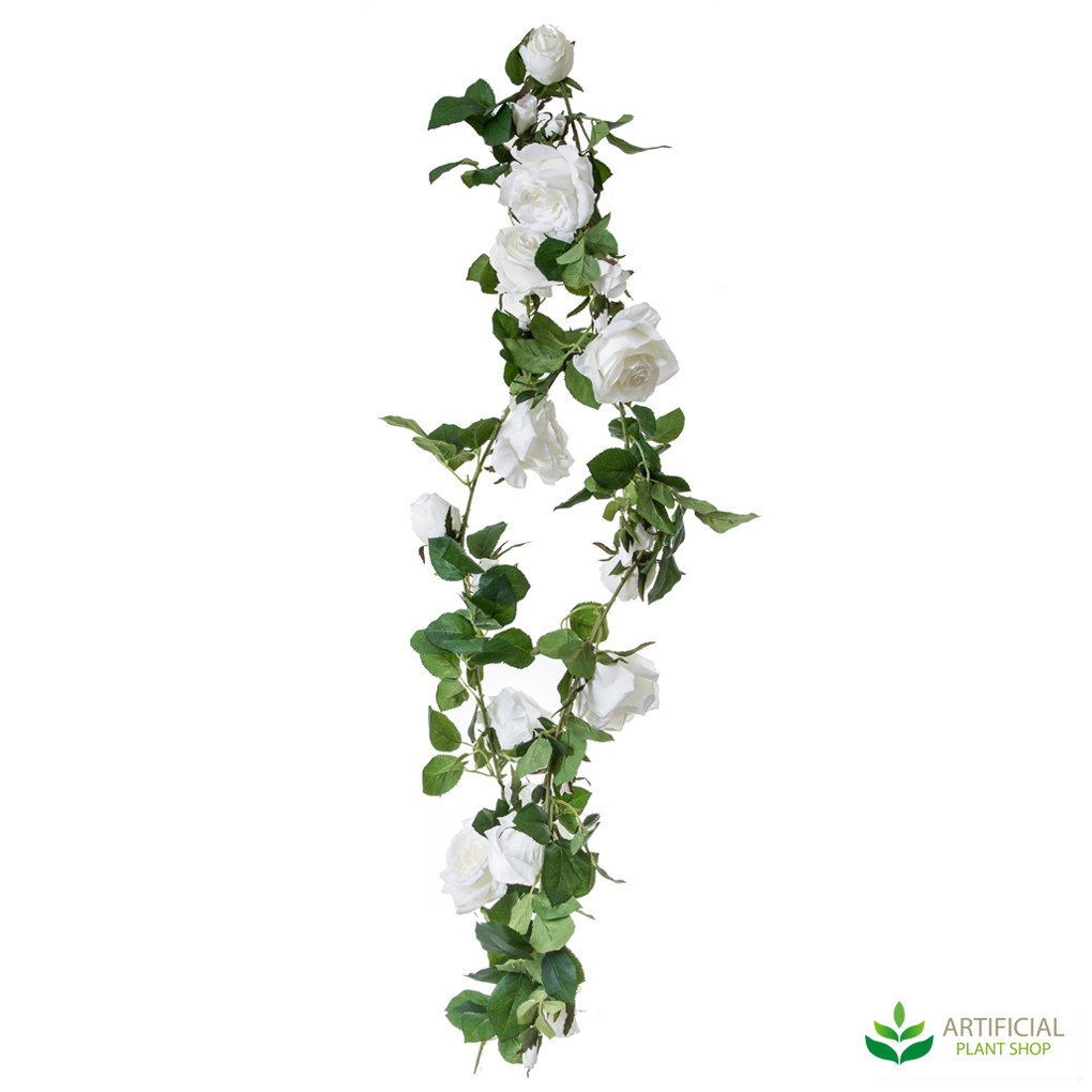 White Rose artificial garland