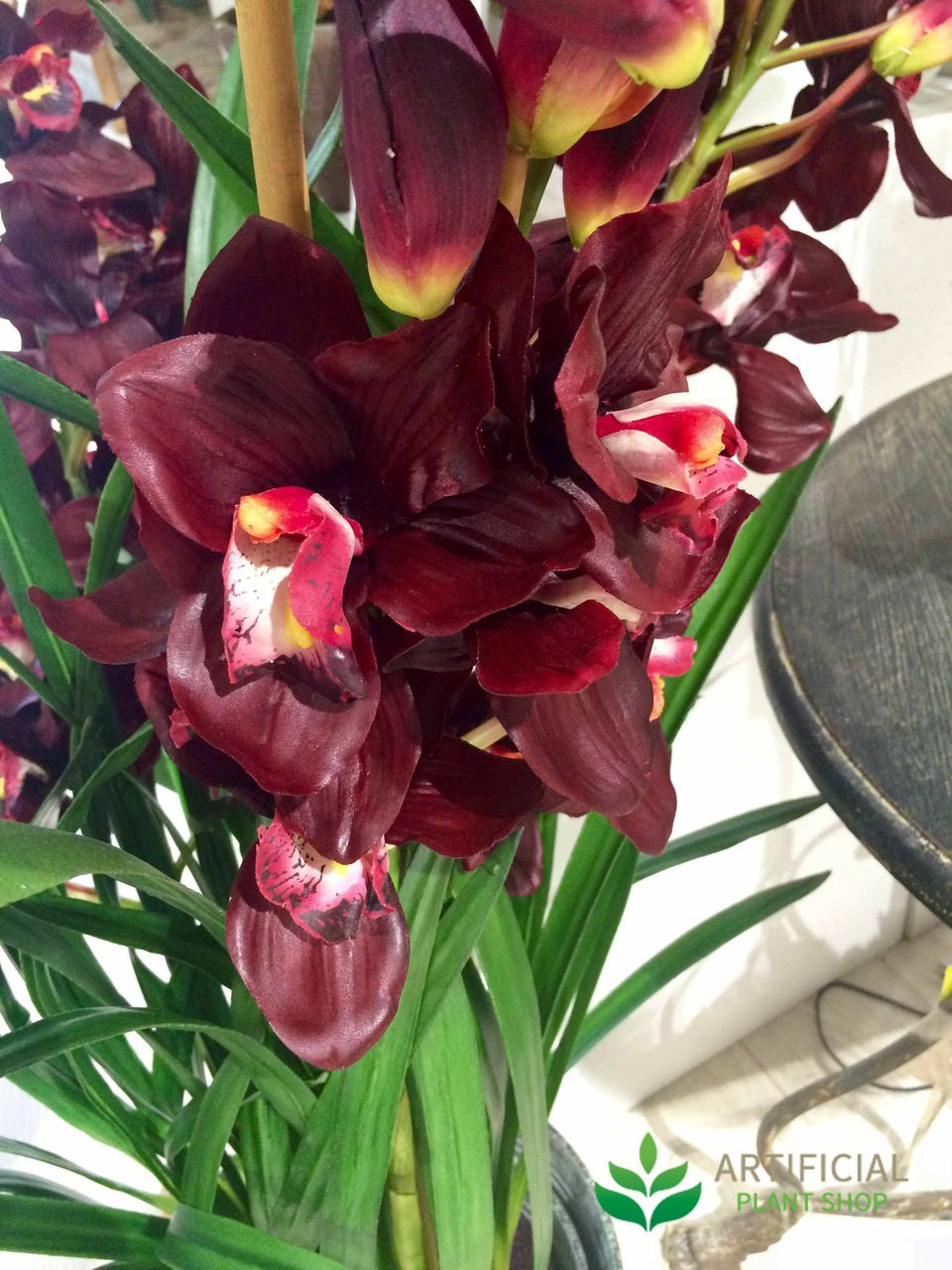 Artificial Burgundy Orchid