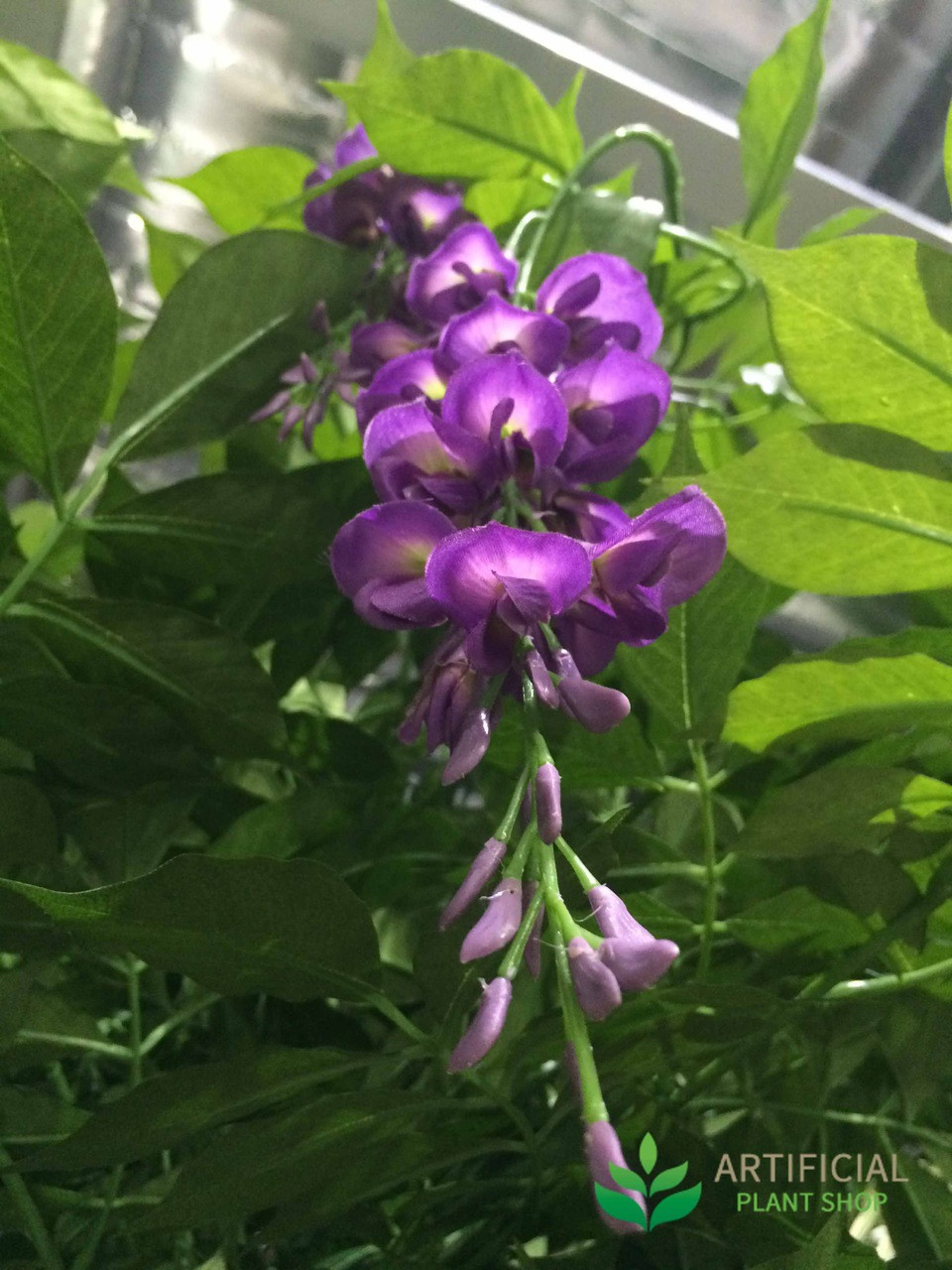 Artificial wisteria tree flowers