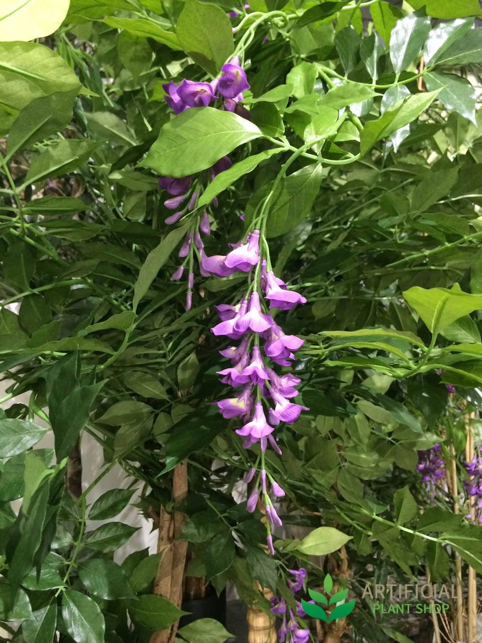 Artificial lilac wisteria foliage