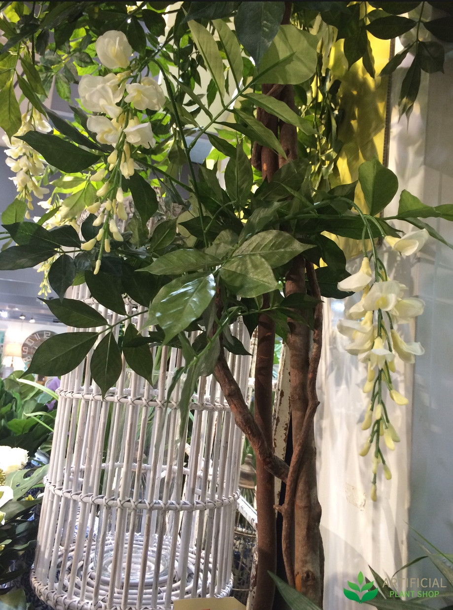 Artificial Wisteria tree leaves