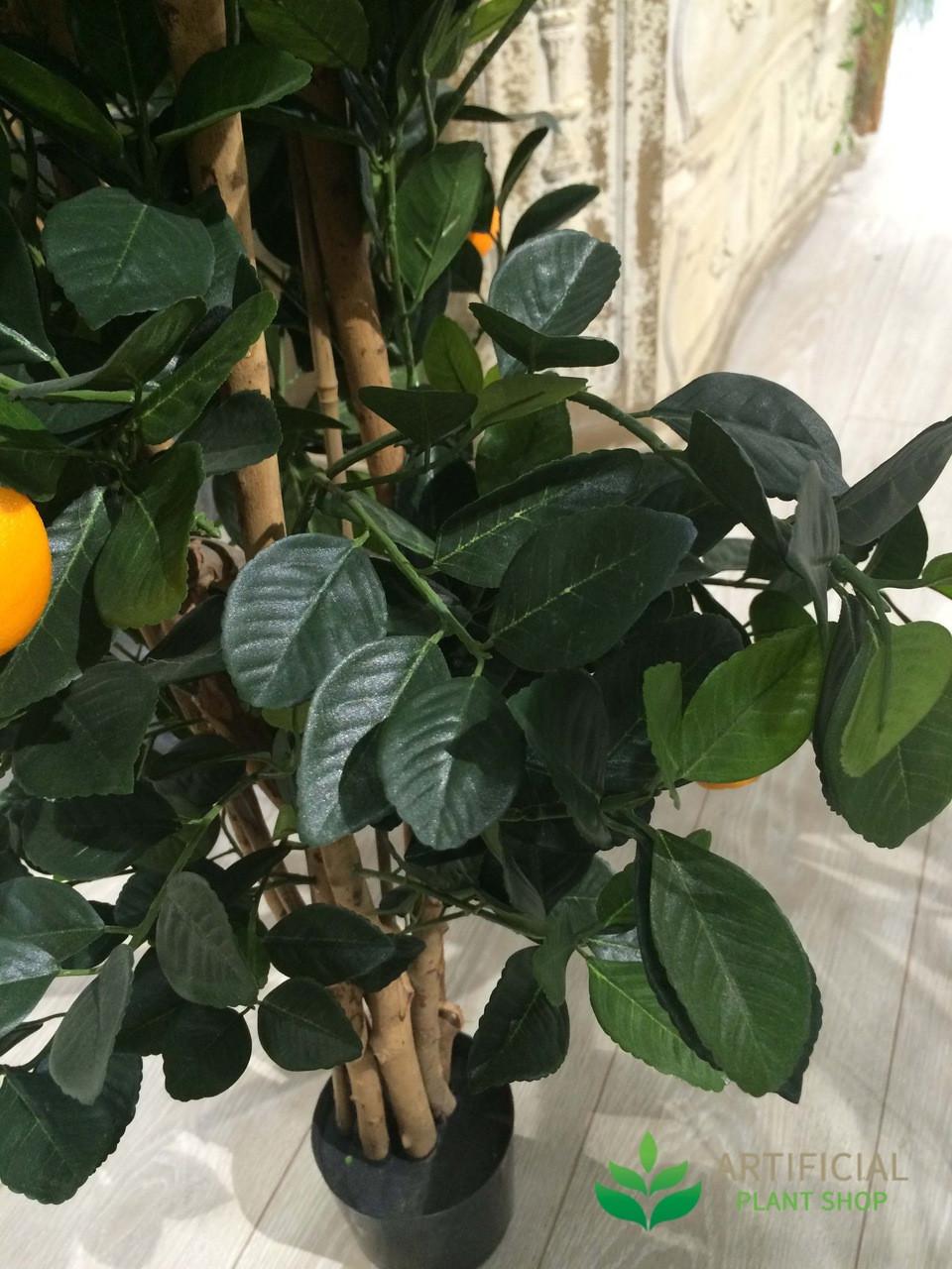 Artificial Orange Tree Leaves