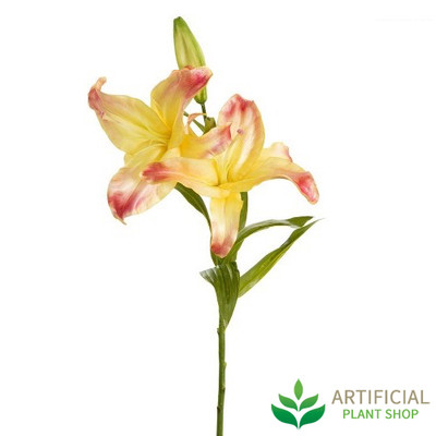 Artificial Flower - Casablanca Yellow Lily