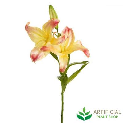 Artificial Flower - Casablanca Yellow Lily