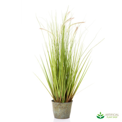 Wheat Grass in metal Pot 80cm