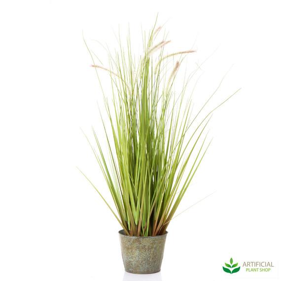 Wheat Grass in metal Pot 80cm