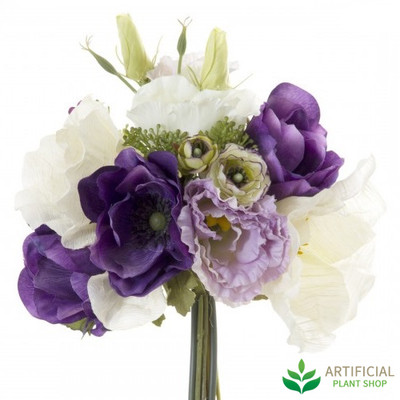 Poppys Purple Bouquet 30cm
