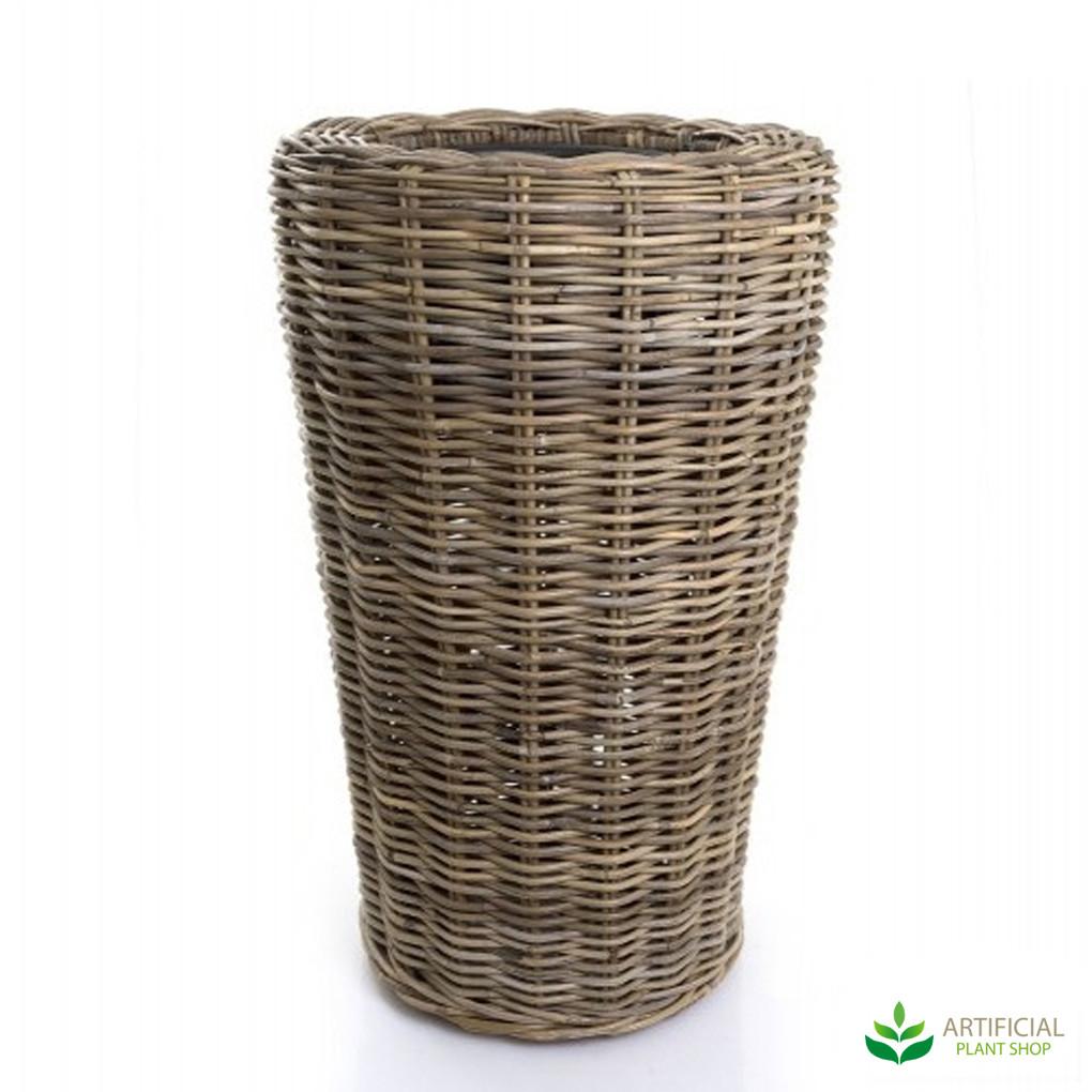 Tall Woven Basket Planter 45cm x 70cm