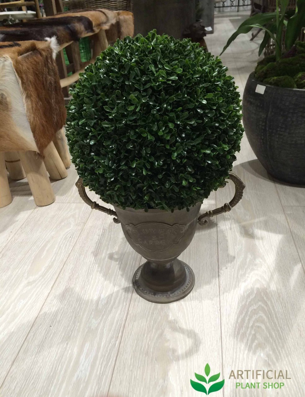 Artificial Boxwood Ball in Urn