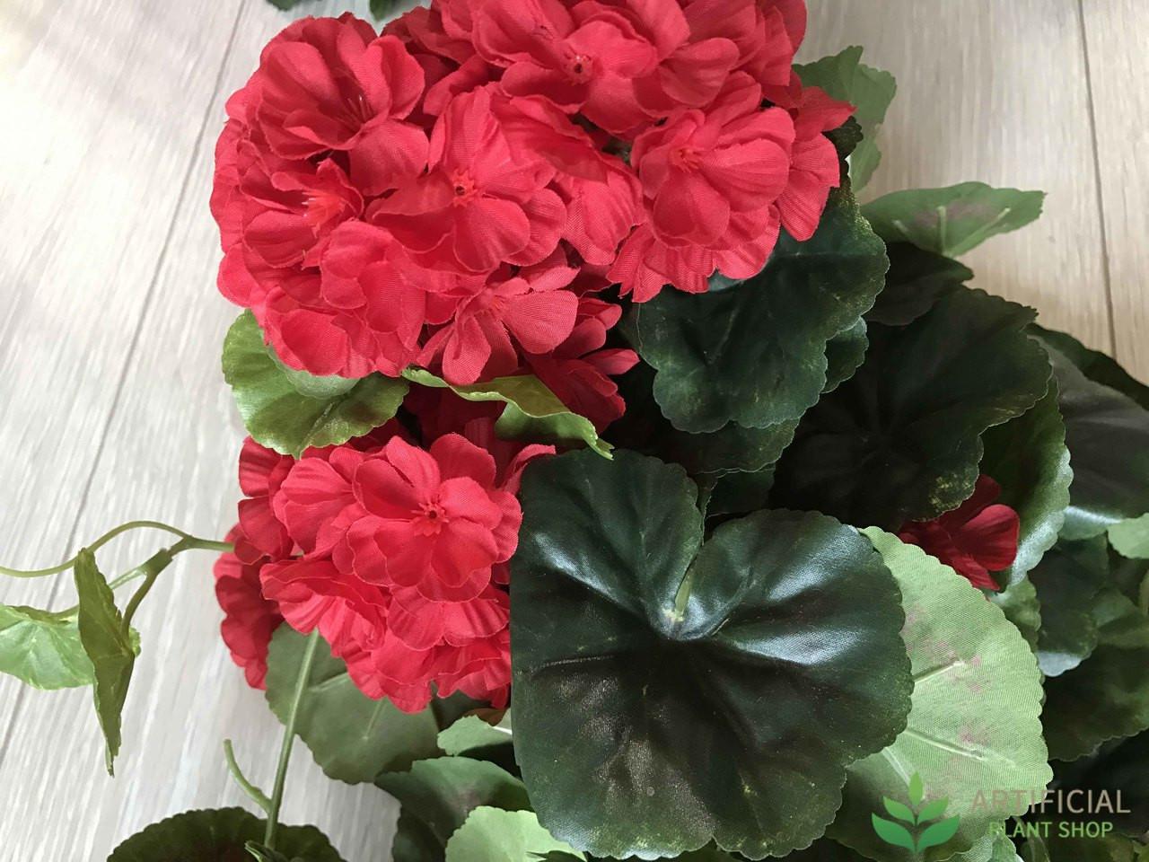 Red Geranium Artificial Flowers