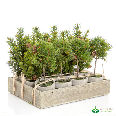 Artificial Mini Potted Pine Trees