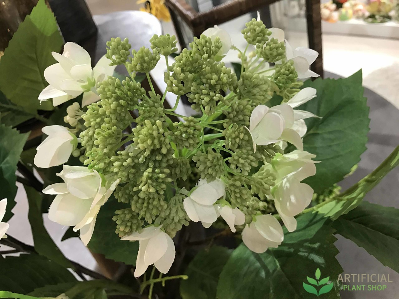 Artificial Flowers - White Hydrangeaa