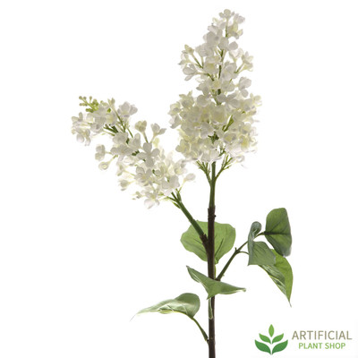 White Lilac Spray 80cm