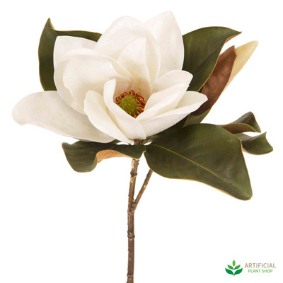 White Magnolia Flower 72cm (pack of 6)