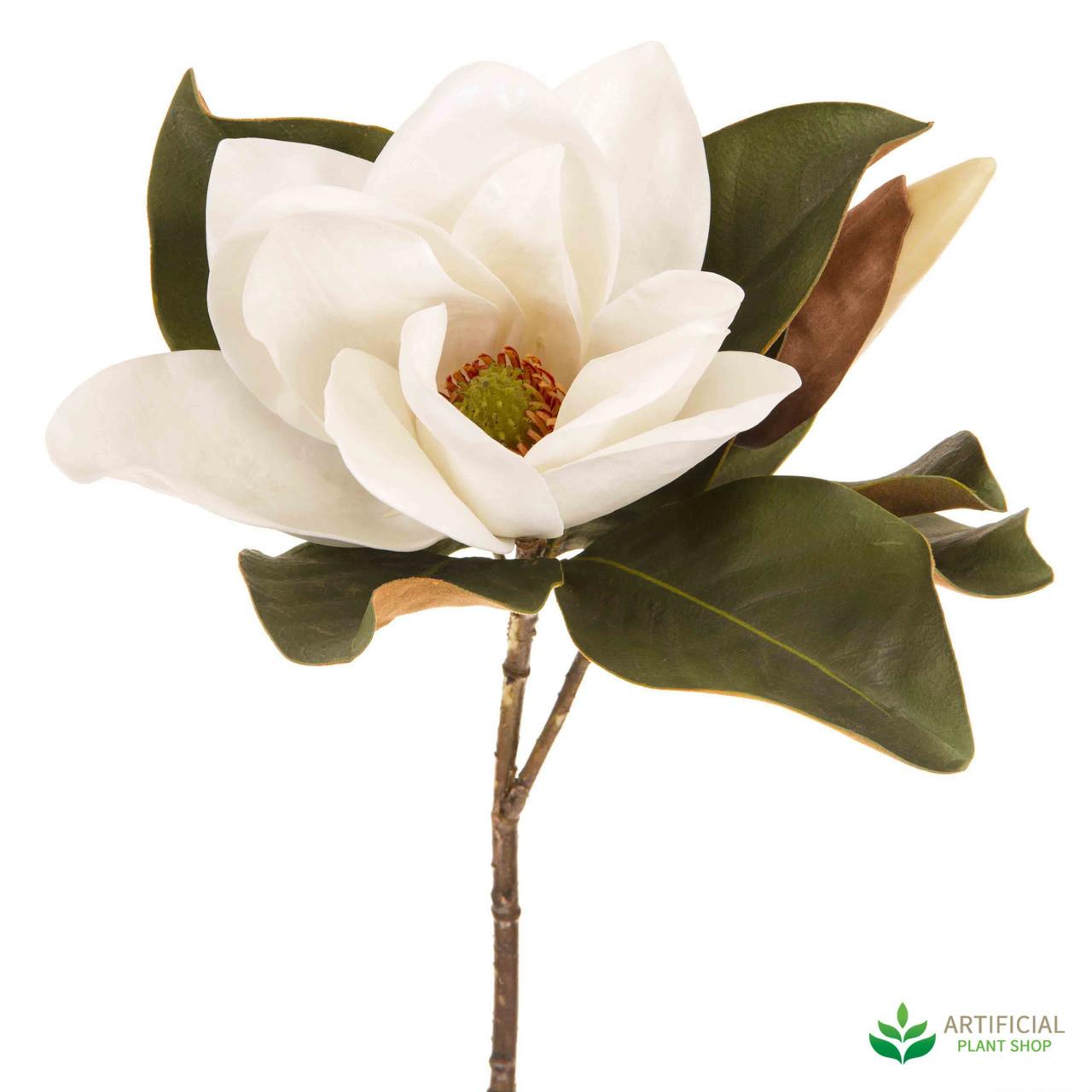 Artificial White Magnolia Flower
