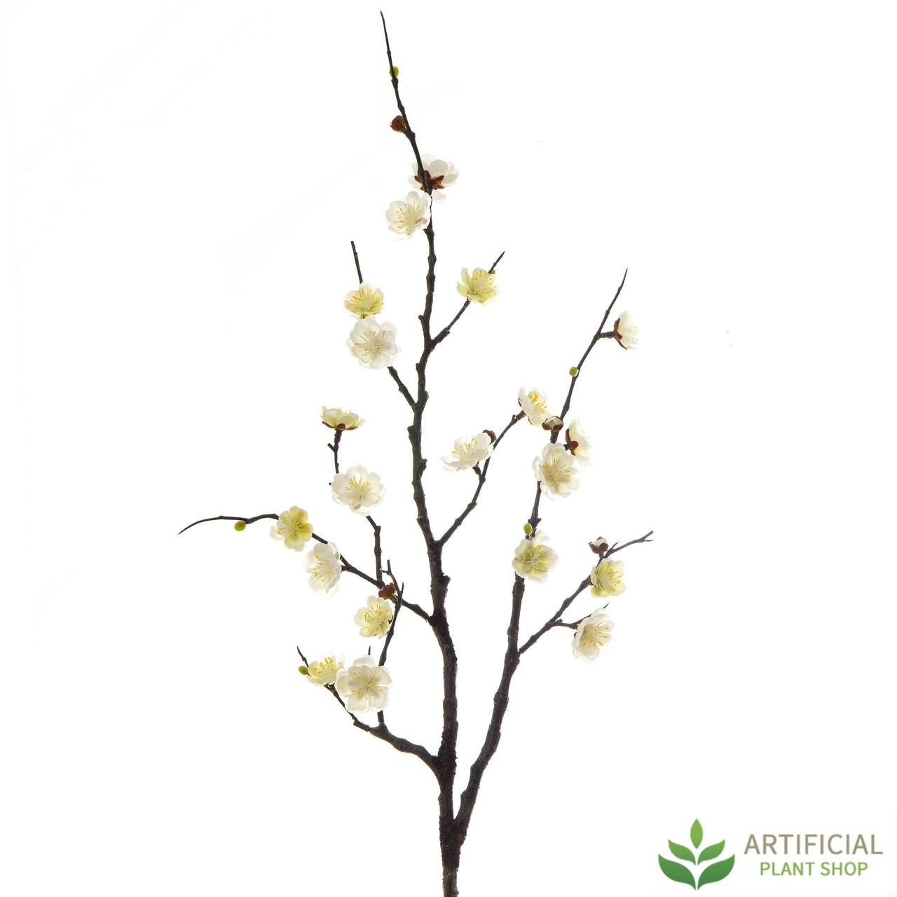Cream Plum Blossom Spray 85cm