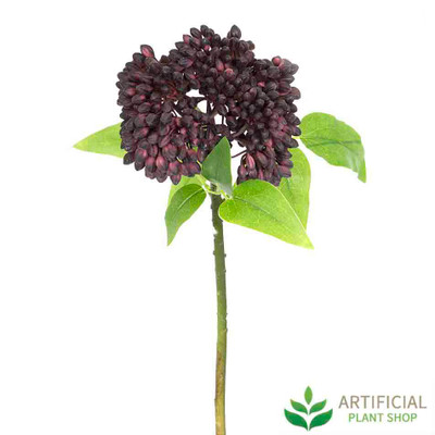 Purple Berry Stem 43cm (pack of 6)