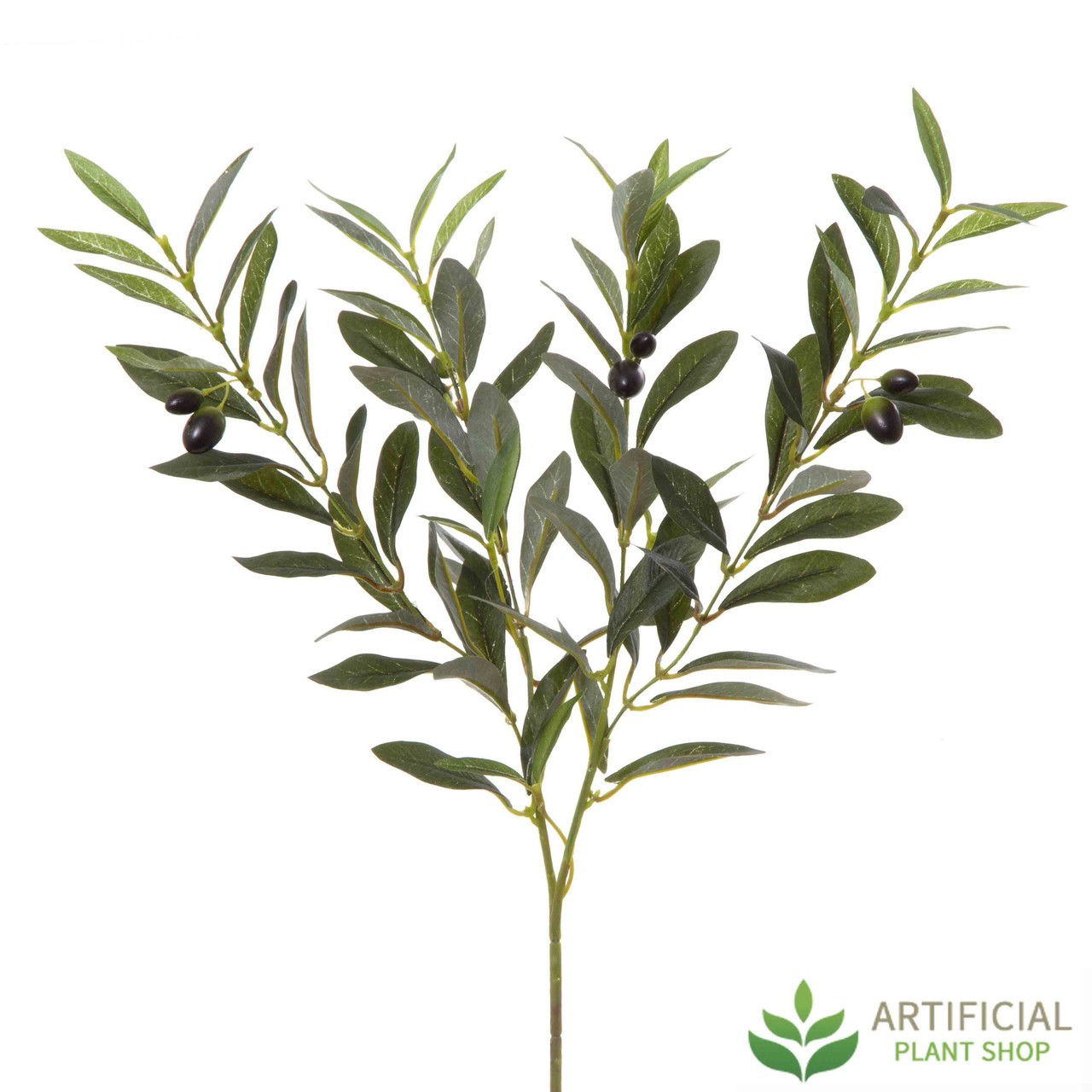 Artificial Green Olive Branch