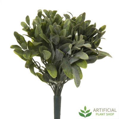 Green Flocked Sage Bush 26cm (pack of 6)