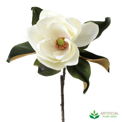 White Magnolia Flower 77cm (pack of 6)