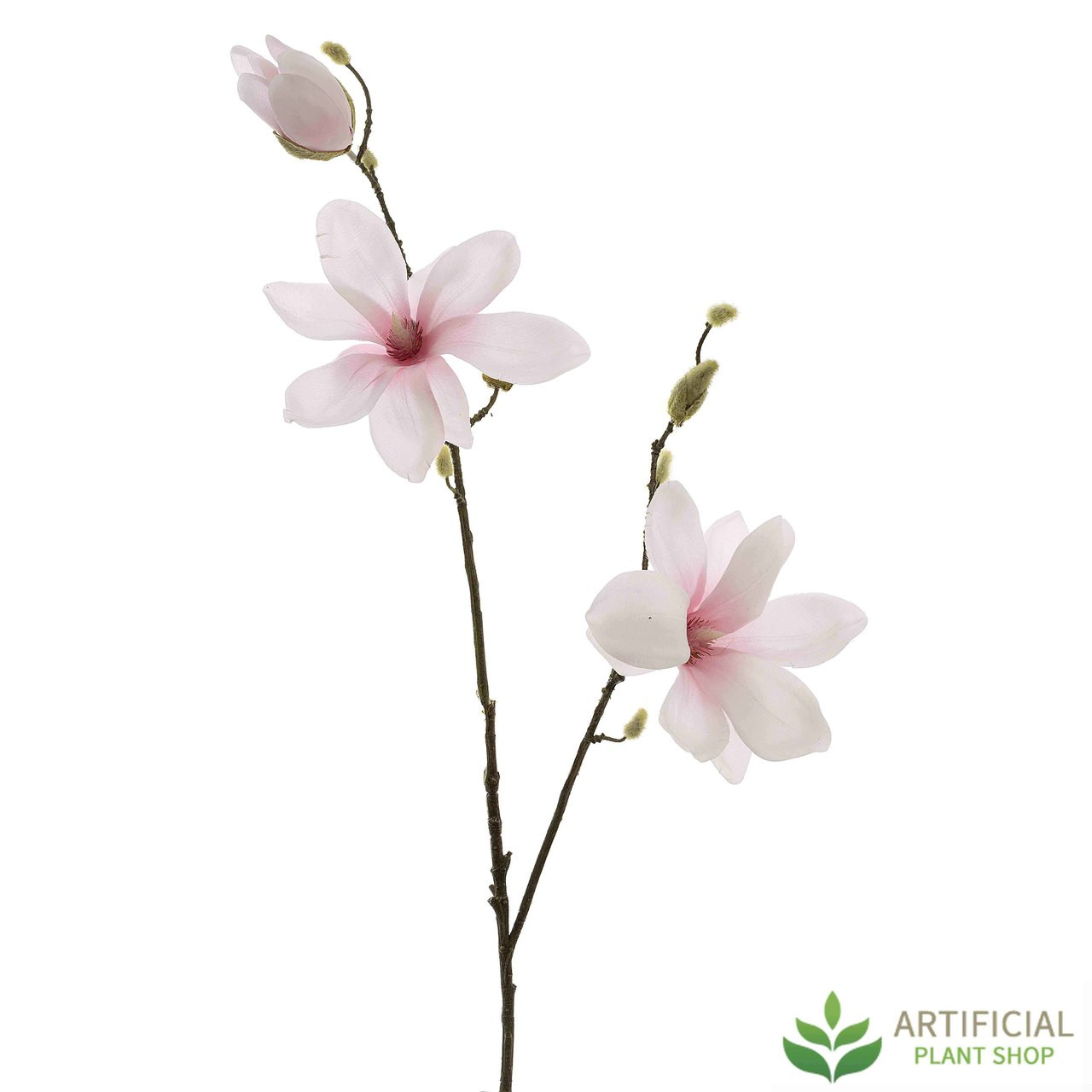Artificial Pink Magnolia Stem 82cm