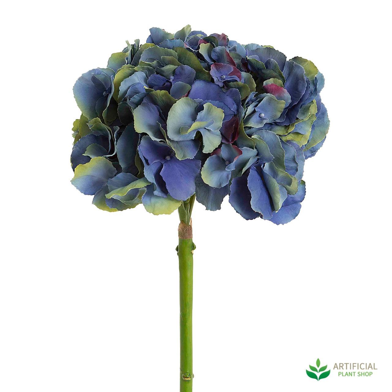 Dark Blue Hydrangea Stem 50cm