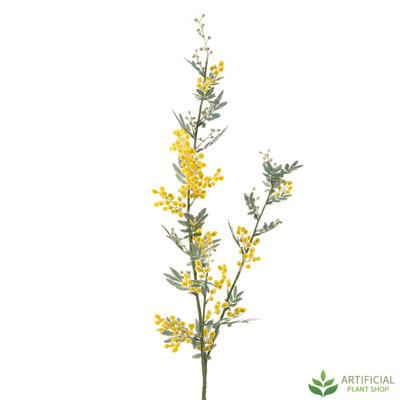 Artificial Flower - Yellow Mimosa Stem 1.1m