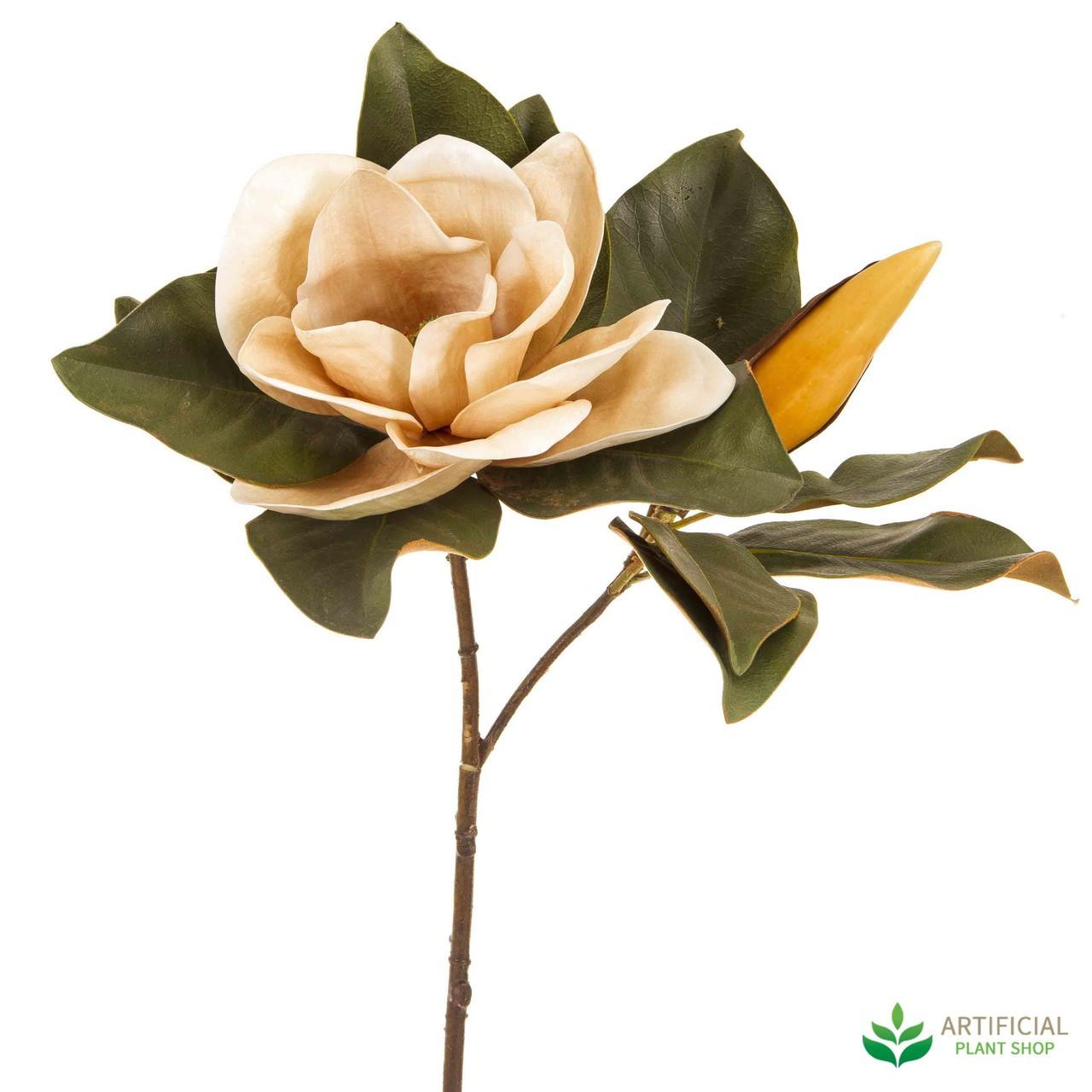 Artificial Flower - Coffee Magnolia 72cm