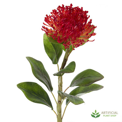 Artificial flower - Red Pincushion Protea 70cm