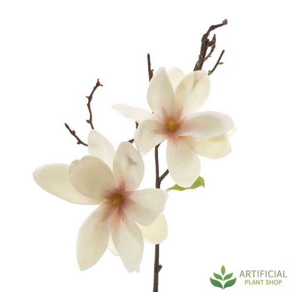 Artificial Magnolia Flower Stem 70cm