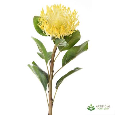 Artificial Flower - Yellow Pincushion Protea 70cm