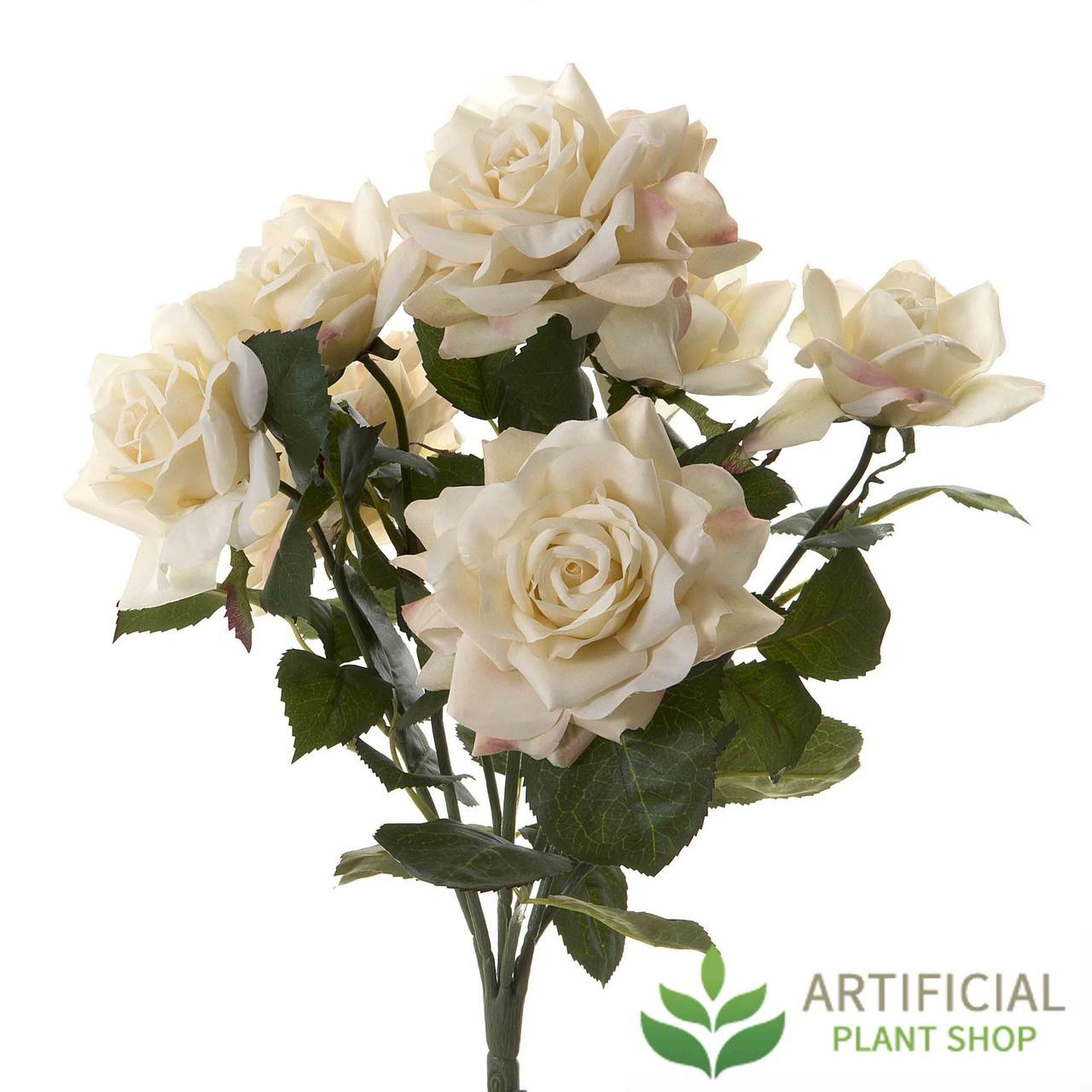 Artificial Rose Bush heads 45cm