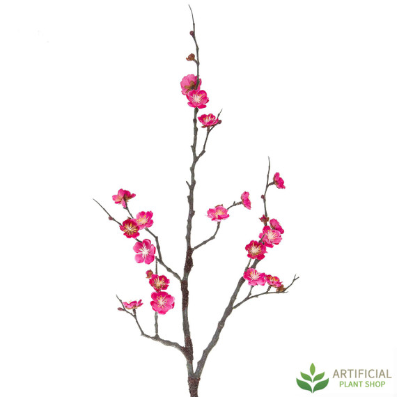 Dark Pink Plum Blossom Stem 85cm