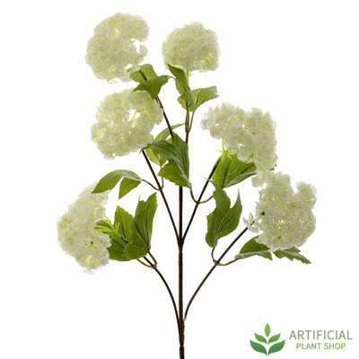 artificial white snowball branch 63cm