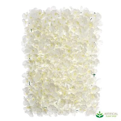 White Hydrangea Wall Mat 60cm x 40cm