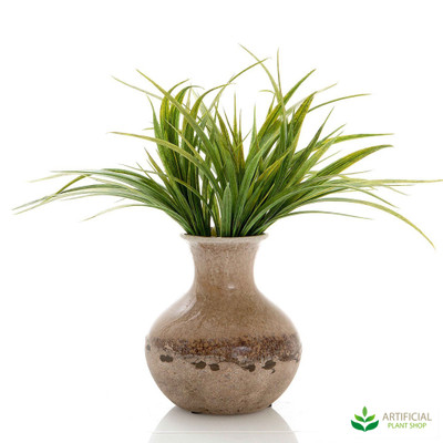 artificial grass plant in terra vase 35cm