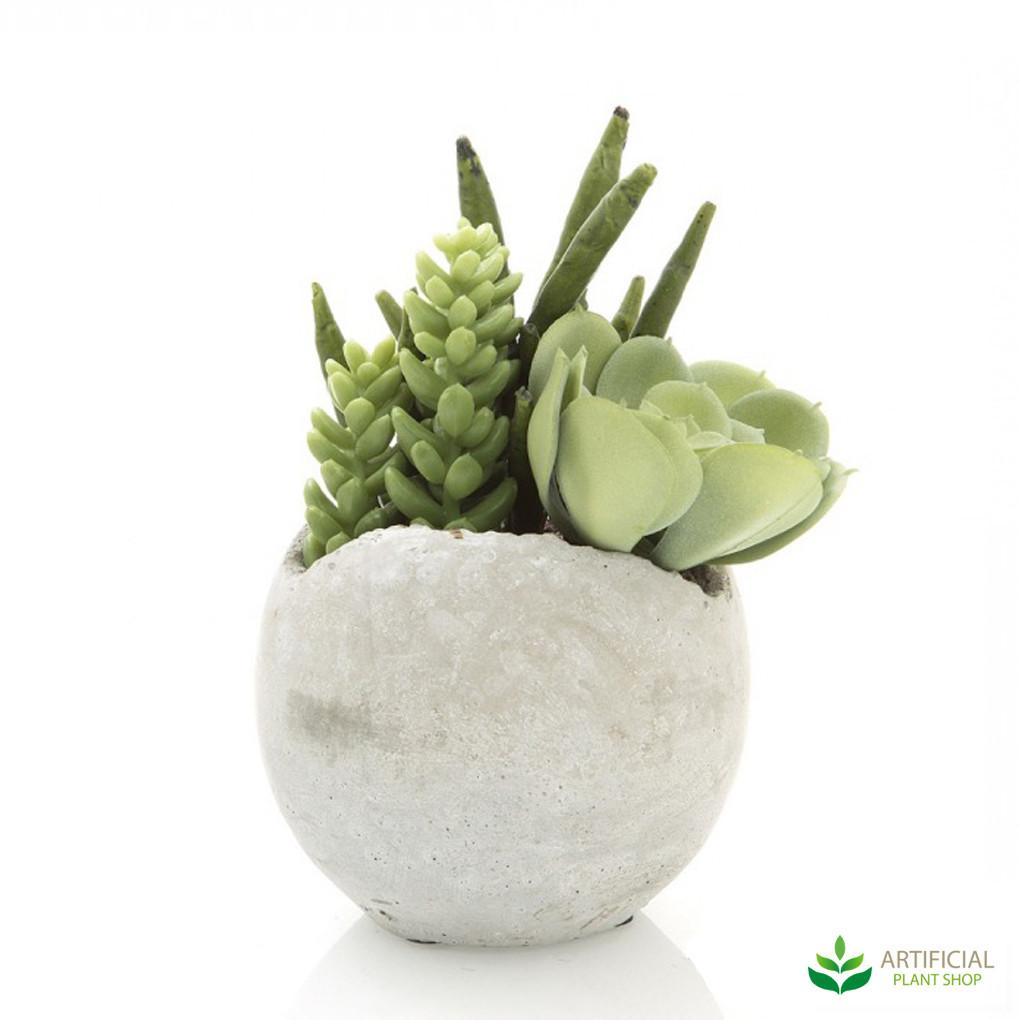 artificial mixed succulent in pot 17cm