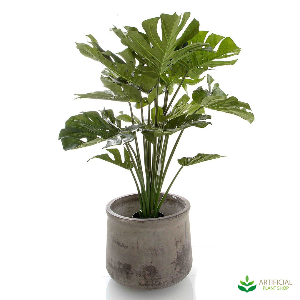 artificial monstera plant potted 1m