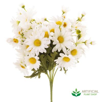 White Daisy Bush Bouquet 35cm (pack of 6)