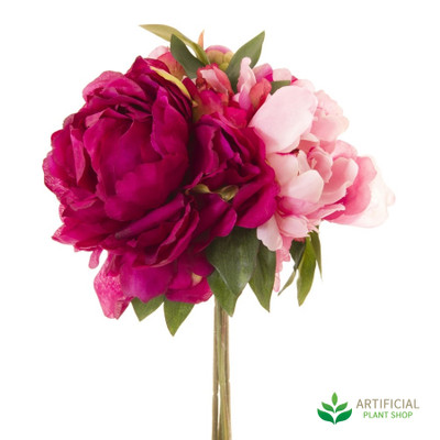 artificial peony flower bouquet