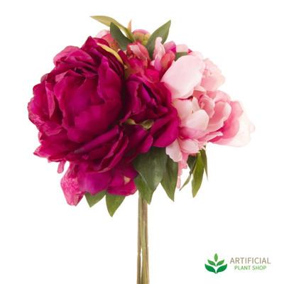 artificial peony flower bouquet