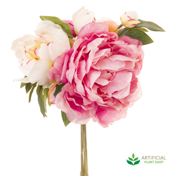 light pink peony bouquet 30cm