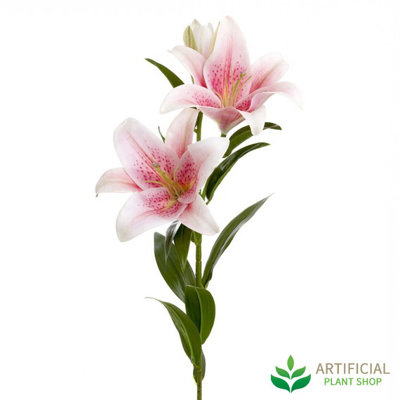 artificial pink lily stem 90cm