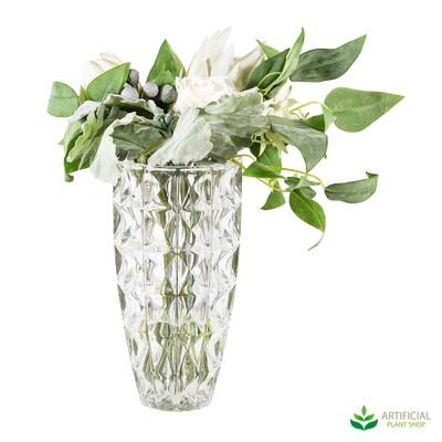 Flower Arrangement in Glass Vase 42cm