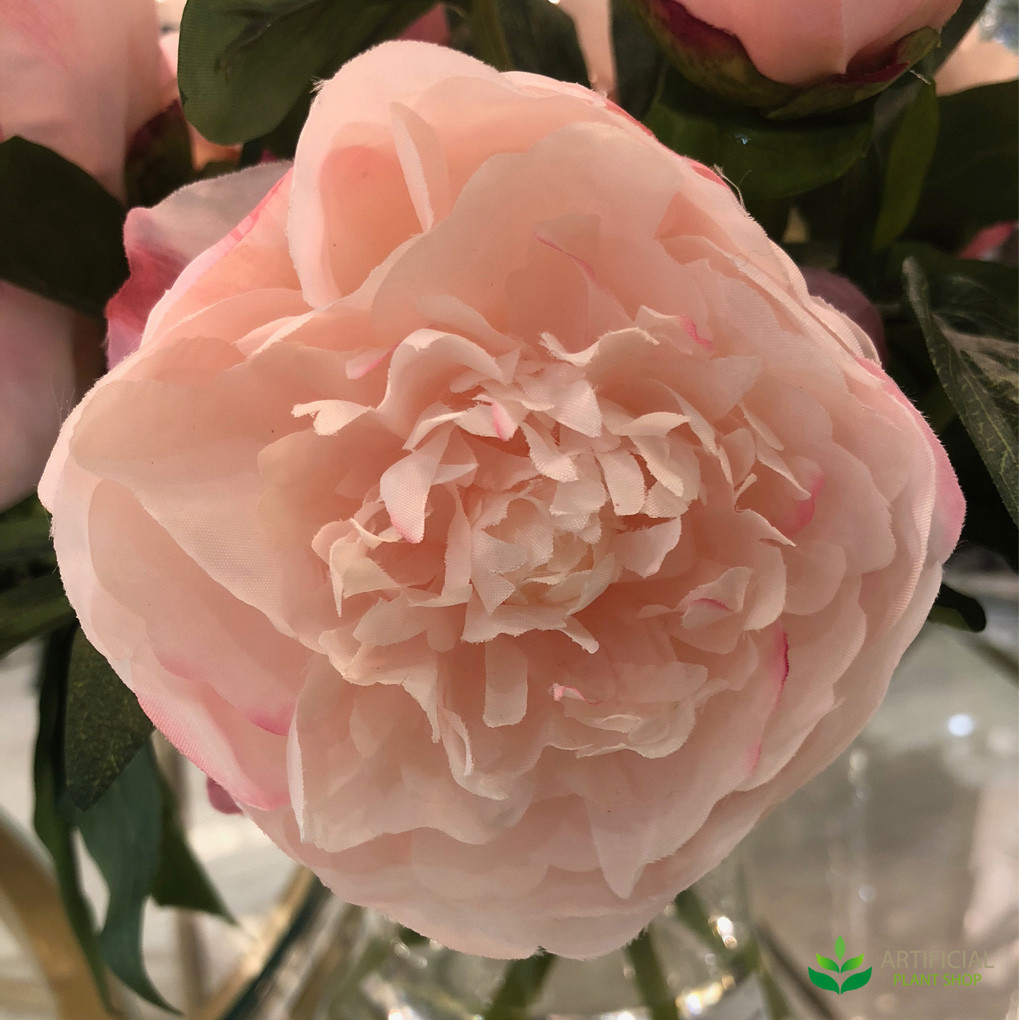 artificial pink peony flower