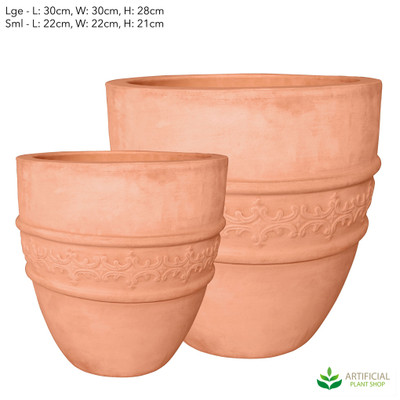 Small Civita Planters Set of 2