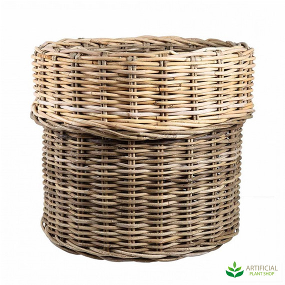 lux rattan basket pot